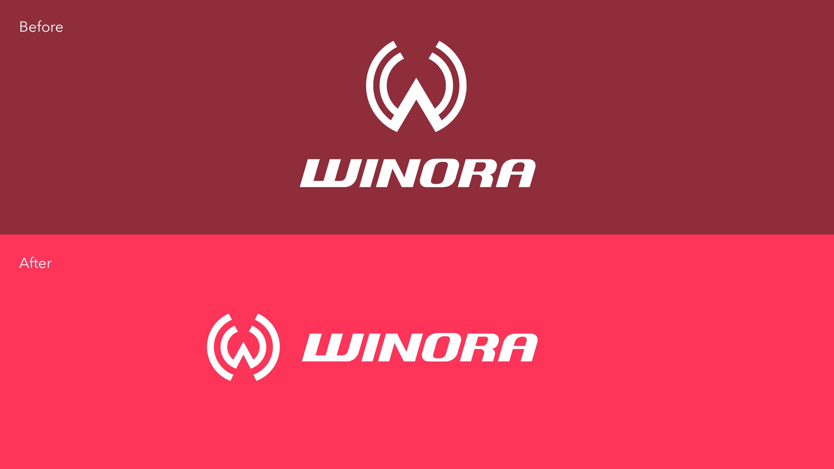 Winora Logo Evolution – Poarangan Brand Design